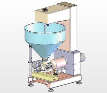 Semi-automatic pneumatic dosing machine